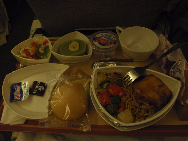 My first meal on Emirates