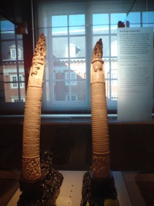 A pair of magnificent elephant tusks (1919), given by a wealthy Chinese merchant-cum-officer in Sumatra, Tjong A Fie, for the minister of colonial affairs, Jacob Cremer, and his wife.