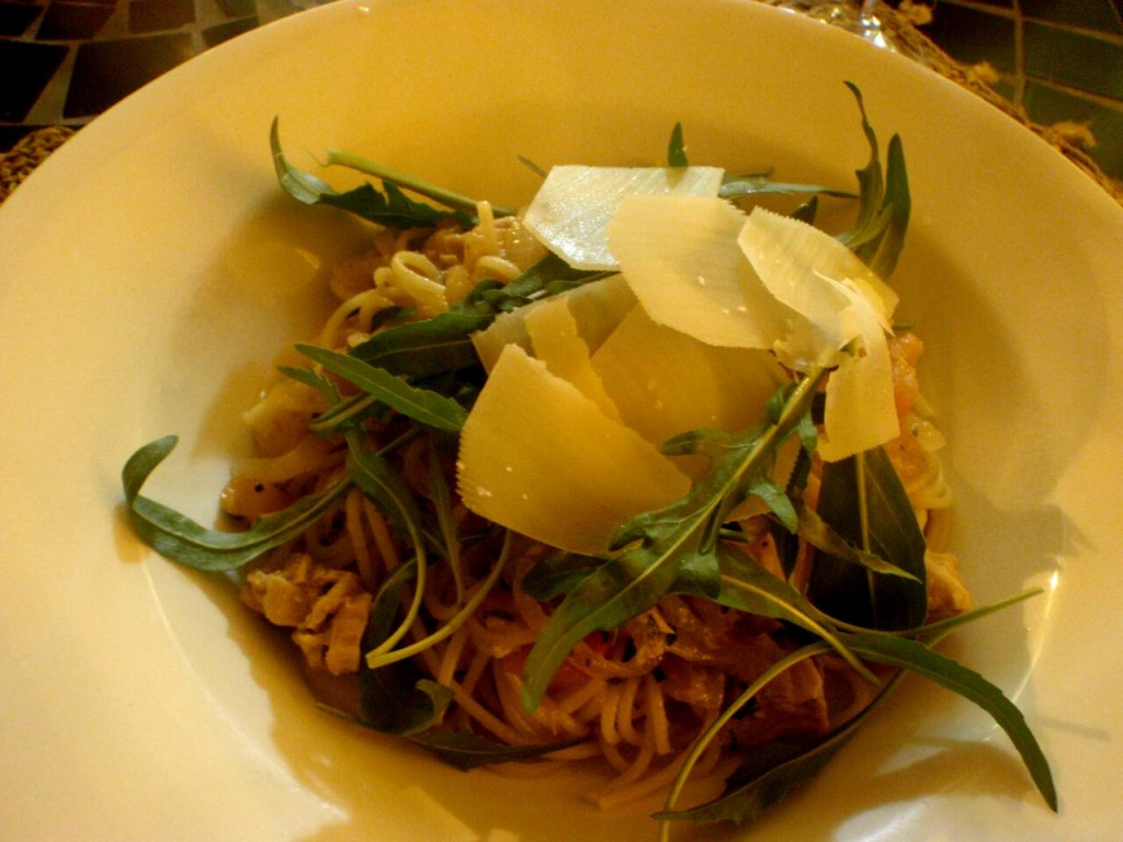 Spaghetti with tuna. Nom!