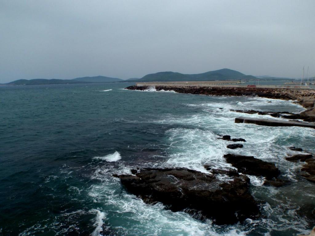 The fierce sea