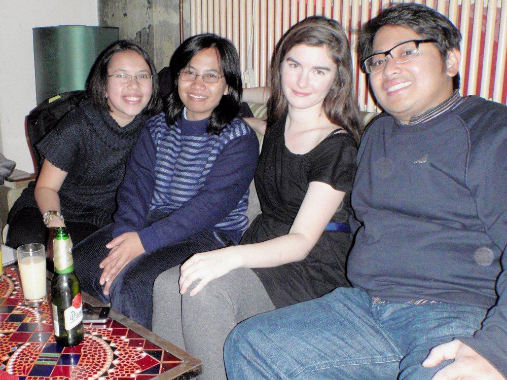Me, Mbak Ana, Paula, and Nandyan