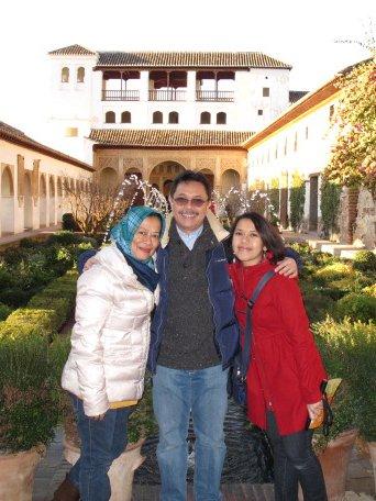 Masih di Alhambra, tapi di kompleks Generalife alias Jennat al-Arif atawa Taman Arsitek.