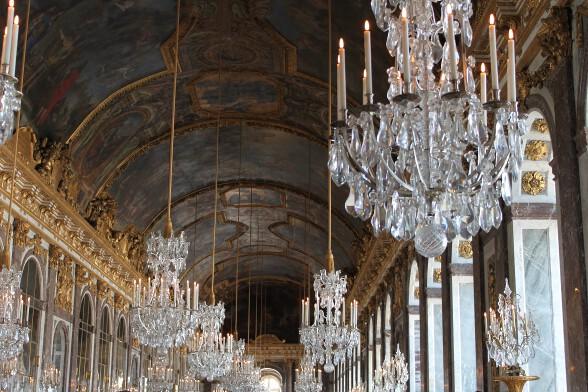 Lavish chandeliers