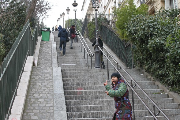The stairs were quite a challenge...
