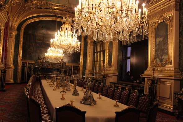 The super-lavish dining room