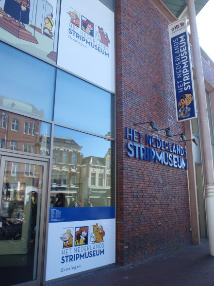 Stripmuseum, after strip cartoons, not striptease (d'oh)