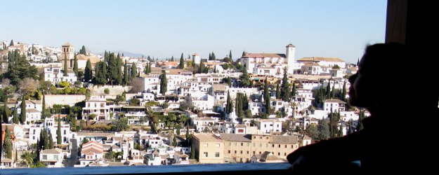 Gazing the old town of Granada from Alhambra, one of my most favourite places on earth.