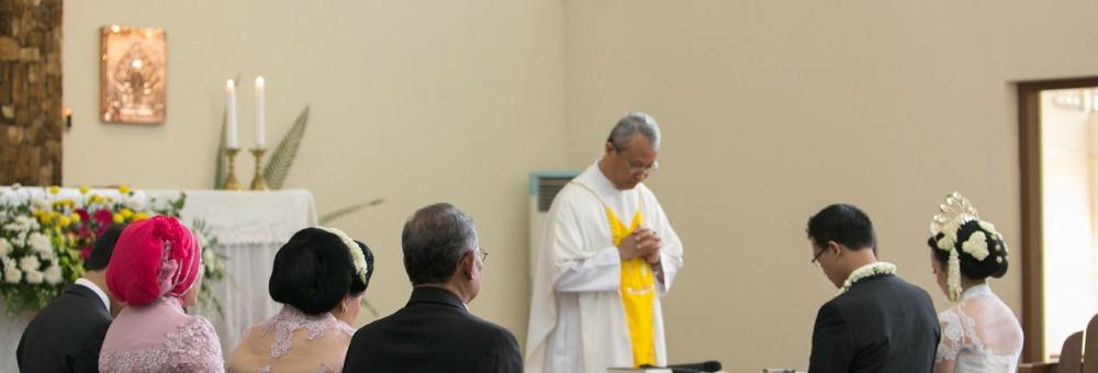 Saat pemberkatan di Kapel St. Bellarminus.
